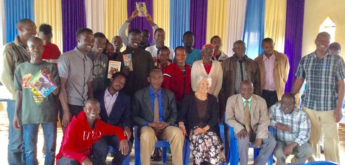 launching youth center in Katwanyaa
